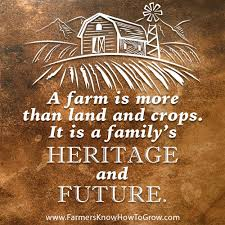 Farm Quotes Best A Farm Is More Than Land And Crops It Is A Family's Heritage And