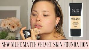 new makeup forever matte velvet skin foundation first impressions and review