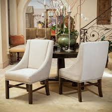 fabric needed for dining room chairs. set of 2 dining room furniture natural fabric chairs w/ nailhead accent needed for