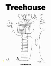 Tree House Coloring Pages Zabelyesayancom