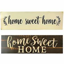 Home Sweet Home Script Design Large Rustic Wood Sign Distressed Solid Plaque  vintage sign Wall Home Decor|Plaques & Signs