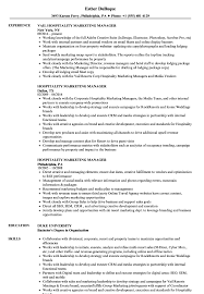 Resume Examples Hospitality Hospitality Marketing Manager Resume Samples Velvet Jobs 11