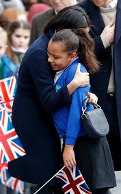 She's a good hugger and she has nice perfume.' Schoolgirl Sophia Richards,  10, on meeting Meghan Markle