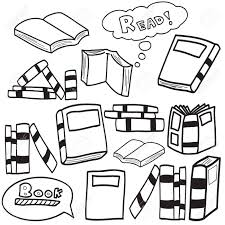 Design In Drawing Book Vector Illustration Of Books In Simple Sketch Doodle Design