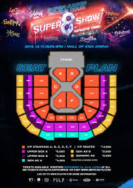 Moa Seating Chart Mall Of Asia Arena Events