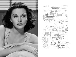 Image result for Actress Hedy Lamarr and composer George Antheil receive a patent