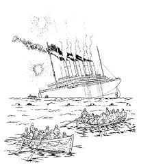 Small Picture Depiction the Sinking of Titanic Coloring Pages Batch Coloring