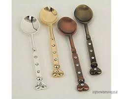 dolity metal carved mini coffee spoons small snacks dessert spoon kitchen bar vintage style 10 8cm