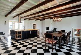 black and white tile floor. Fine Tile Black And White Floor Tiles For Kitchen Morespoons C64df5a18d65 To Tile E