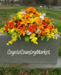 Grave Decoration Headstone Saddle Flowers For Headstone Cemetery Flowers Grave