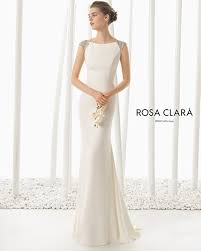 did you like the gown our designer rosa clará donned for her very Wedding Dress Designers Rosa Clara model demos is column dress also made of crepe silk dress a sweeping skirt gives this model an elegant fall the back of this model is definitely show wedding dress designers like rosa clara