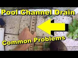 pool patio drain problems channel