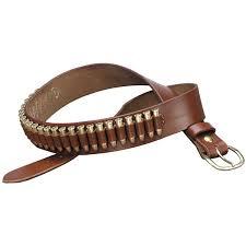 100 heavy saddle leather pistol cartridge belt