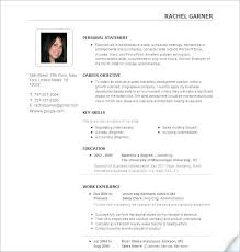 Best Resumes Templates Awesome First Job Resume Template Resumes Templates For Best Business Free