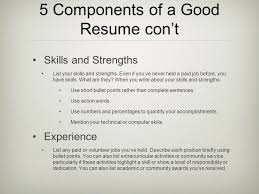 Preparing Resumes Student Activity Charts Ppt Video Online Download