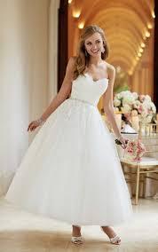 1950s tea length short wedding dress stella york wedding dresses