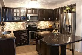 stone kitchen backsplash dark cabinets. Interesting Dark Backsplash For Dark Cabinets Remarkable Kitchen With  Tiles Home Design Ideas  In Stone Kitchen Backsplash Dark Cabinets T