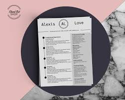 Alexis Love Resume Template Stand Out Shop