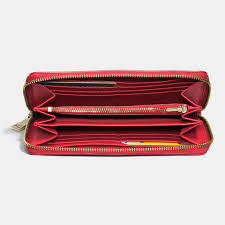 Lyst - Coach Prairie Accordion Zip Wallet In Crossgrain Leather in Red