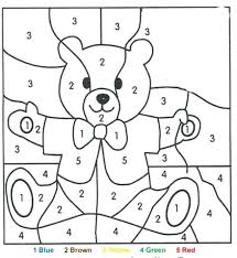 Color By Number Simple Color By Number Worksheets Two Digit ...
