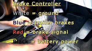 trailer brake controller installation gmc sierra