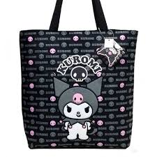 details about o kitty kuromi 15 black tote bag