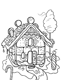 Small Picture Free Gingerbread House Coloring Page
