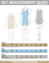 Wrestling Singlet Size Chart Knockout Sportswear
