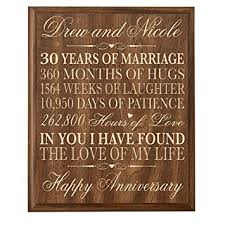 personalized 30th wedding anniversary gift for couple custom made 30th anniversary gifts for her