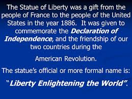 Image result for gift from the people of France to the people of the United States,