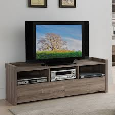 Tv Entertainment Stand Furniture Of America Helenza 60 In Vintage Walnut Entertainment