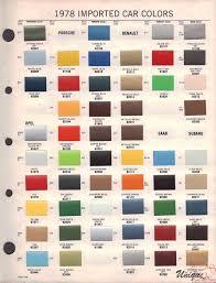 Porsche Paint Chart Color Reference