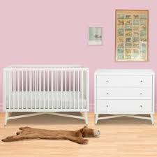 dwell baby furniture. DwellStudio 2 Piece Nursery Set - Mid-Century Crib And Dresser In French White Dwell Baby Furniture F