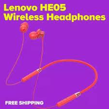 【COD+Free Shipping】<b>Lenovo</b> HE05 Wireless Earphone Sports ...