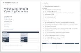 Standard Operating Procedures Templates Smartsheet