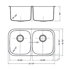 Accessories Double Sink Kitchen Size Standard Double Bowl Kitchen