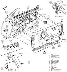 20 exploded view of the front door trim panel 1991 96 beretta