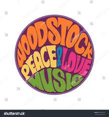 60s Graphic Design Style Hippie Style Love Music Retro 1960s Stock Vector Royalty
