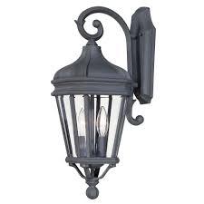 the great outdoors by minka lavery harrison 2 light black outdoor wall mount lantern