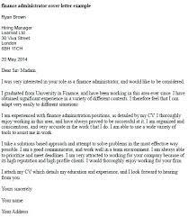Cover Letter Examples For Finance Sample Finance Cover Letter