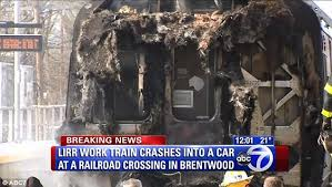 Car hit by LIRR in Brentwood
