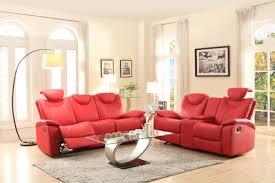 red leather reclining sofa. Homelegance-talbot-double-reclining-sofa-in-red-leather- Red Leather Reclining Sofa U