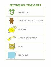 Printable Shower Chart Brush Teeth Wash Face Bath Or Shower Pajamas Go To The