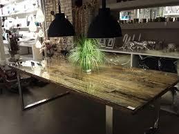 Esstisch Glas Holz Rund