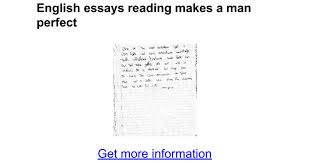 english essays reading makes a man perfect google docs