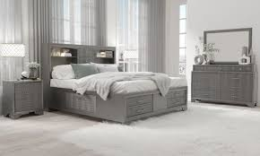 braunfels modern bedroom set in grey