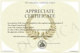 Certificate Of Appreciate Appreciate Certificate