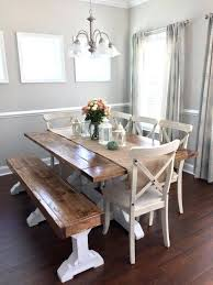 farmhouse table with bench dining table and bench free plans 2 farm table bench width