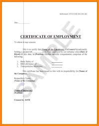 Certificate Of Employment Sample Letter Hlwhy