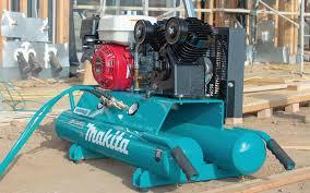 an air compressor on a job site